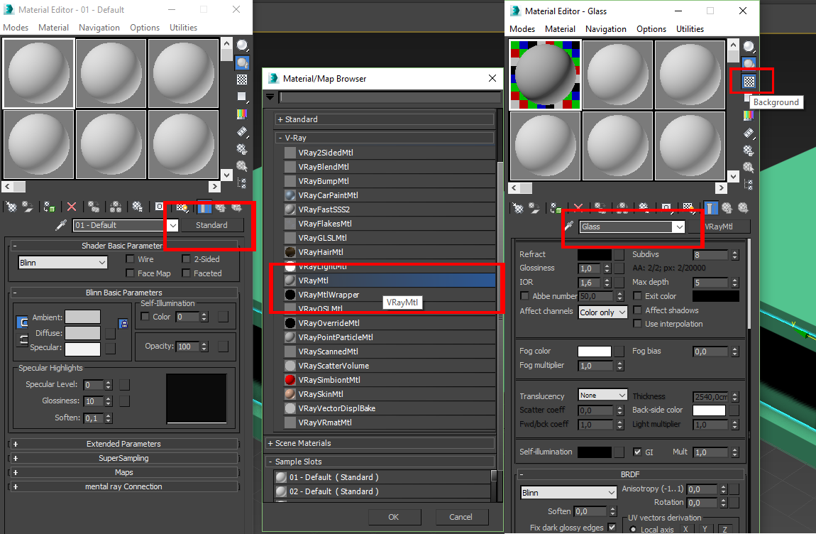 Setting up Vray material