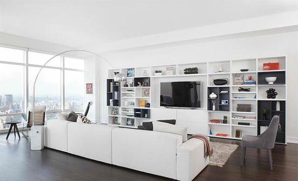 built-in media wall