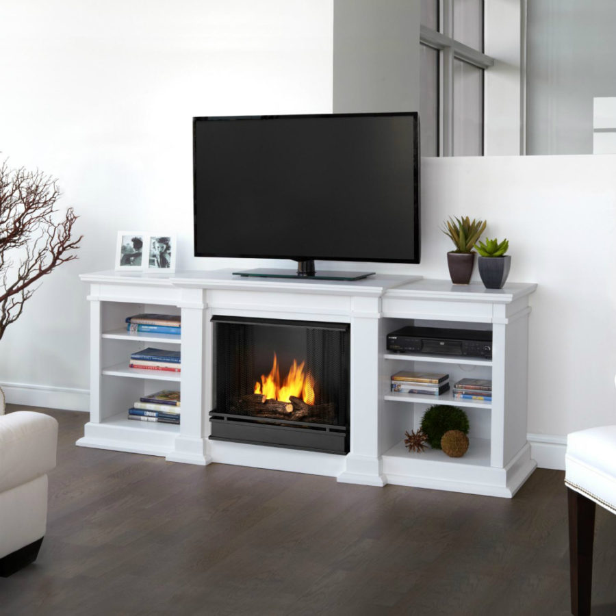 Real Flame Fresno 71-Inch Gel Fireplace Media Console